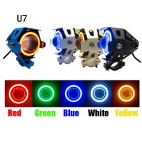 Lampu Tembak Led Cree Transformer U7 Angel Eye + Demon Eye Garansi!!