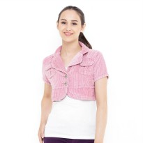 Mobile Power Ladies Bolero Cropped Outer Corduroy - Pink G8501