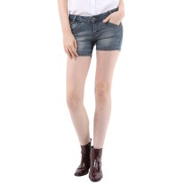Mobile Power Ladies Basic Jeans Short Pants Washing - Denim H5531