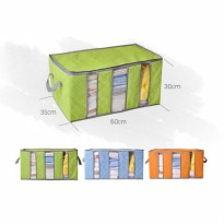 STORAGE BAG ORGANIZER PAKAIAN 3 SISI-Bamboo Storage box 65 liters bamboo charcoal clothing box