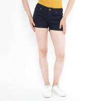 Mobile Power Ladies Denim Short Pants - Navy Blue H5523