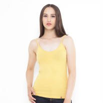 Mobile Power Ladies Basic V-neck Tanktop - Yellow I6675