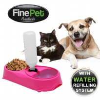 FinePet Dog & Cat Pet Feeder | Tempat makan minum binatang
