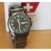 Jam Tangan Pria Swiss Army Date/day Black kw super