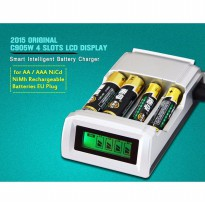 Smart Intelligent LCD 4 Slot Charger Baterai For AA AAA NiMh NiCd - C905W