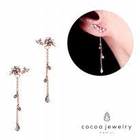 Cocoa Jewelry Anting Winter In Love Rose Gold - No Box