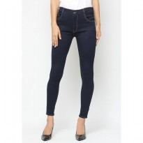Mobile Power Ladies  Long Pants Slim Fit Jeans - Blue A2804