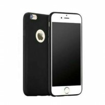 MATTE BLACK Soft Silicone Slim Case For IPHONE Softcase FULL BLACK
