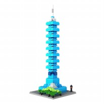 LOZ Diamond Bloc Model 9365 Taipei 101 , Architecture Series