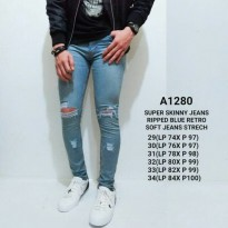 Ripped Jeans Pria a1280