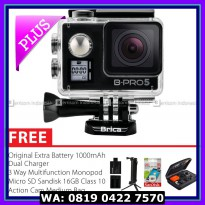 Action Camera BRICA B-PRO 5 AE Mark IIs (AE2s) 4K Combo 3 Way Berrisom - Hitam