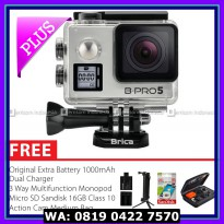 Action Camera BRICA B-PRO 5 AE Mark IIs (AE2s) 4K Combo 3 Way Berrisom - Silver