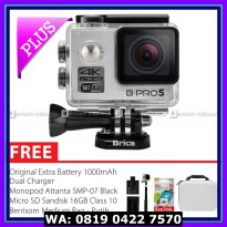 Action Camera BRICA B-PRO 5 Alpha Edition 2 (AE2) 4K Combo Berrisom (A) - Silver
