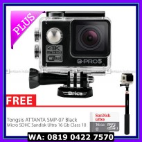 (Action Camera) BRICA B-PRO 5 Alpha Edition 2 (AE2) 4K Camera Combo Supreme - Hitam