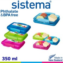Sistema 350ml Small Split Lunch - Pink