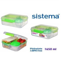 Sistema 1.65L Bento Lunch to Go - Green