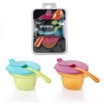 Tommee Tippee Cool & Mash Weaning Bowl - Blue/Green