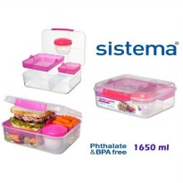 Sistema 1.65L Bento Lunch to Go - Pink