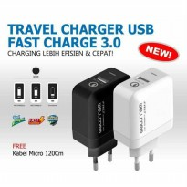35 MENIT | Travel Charger USB Fast Charge 3.0 Wellcomm