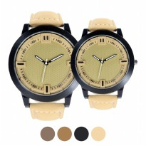 [Couple] Jam tangan Couple with leather strap FIN-127CP