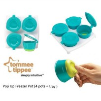 Tommee Tippee Pop Up Freezer Pots and Tray - Aqua
