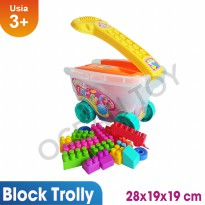 Ocean Toy Block Troly Mainan Edukasi Anak - OCT9227 - Multicolor