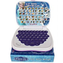 MAINAN ANAK MINI LAPTOP 4 BAHASA FROZEN HELLO KITTY SOFIA TRANSFORMERS