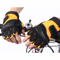Sarung Tangan Multi Sport Half Finger Kiva Yellow Black