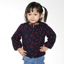Branded Outlet BO 790 Baby GAP Love Jacket Anak Perempuan - Navy