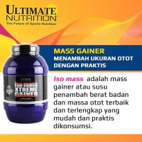 Ultimate Nutrition Iso Mass Xtreme Gainer 10 Lbs Cookies and Cream / 10lb isolate suplemen whey