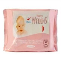Tissue Basah Wetkins Baby Wipes Pink 50'S
