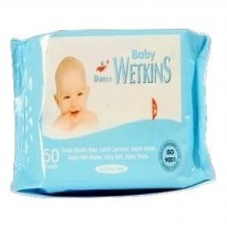 Tissue Basah Wetkins Baby Wipes Blue 50'S
