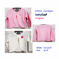 CAGA08 - Cardigan Baby Gap Original 1 Button with Rose