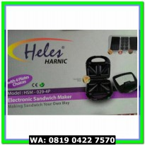 (Murah) HELES TOASTER ELECTRONIC SANDWICH MAKER 4 PLATES CHOICES