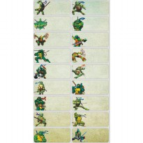 Ninja Turtle Size L Name Label Sticker Waterproof Nama Stiker Anti Air