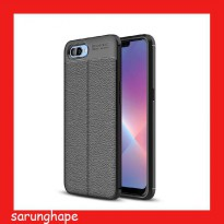 Oppo Realme C1 - Leather Style TPU Soft Case Casing Cover