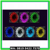 (Diskon) Segotep Fan 12CM RGB x 3 PCS + Wireless Remote