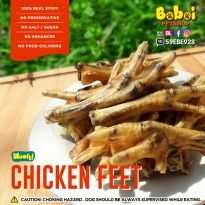 Woofy? Dehydrated Chicken Feet - Ceker Ayam Kering -Snack anjing tulang-tulangan Dog Treat Dog chew
