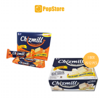 Chizmill White Cheese/Cheddar Cheese 38 gr - 1 Box Isi 12 Pcs