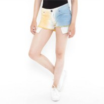 Mobile Power Ladies Ombre Short Pants - Yellow Orange Blue K5513