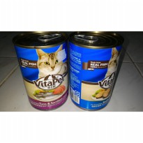 Vitapet Cat food 400gr Rasa Tuna & Seafood Makanan basah kucing fish