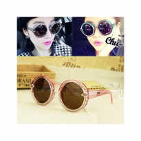HO2428G - Kacamata Bulat Fashion Arrow ( Pink ) #C54