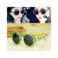 HO2428F - Kacamata Bulat Fashion Arrow ( Hijau ) #C54