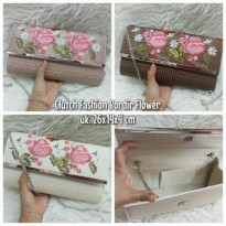CLUTCH FASHION BORDIR FLOWER
