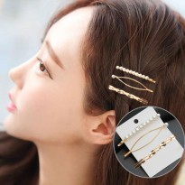 Pearl Hairpin Combination Minimalist B - Gold