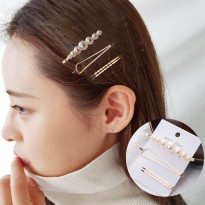 Pearl Hairpin Combination Minimalist C - Gold