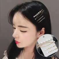 Pearl Hairpin Combination Minimalist D - Gold
