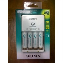 Sony Power Charger + 4 Battery AA 2100mAh Rechargeable Cycle Energy
