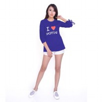Baju Kaos Tshirt Tangan Panjang Wanita Model Terbaru - Jfashion Love Shopping
