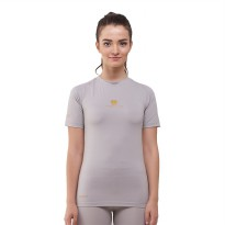 Tiento Baselayer Manset Rashguard Compression Short Sleeve Grey Gold Original